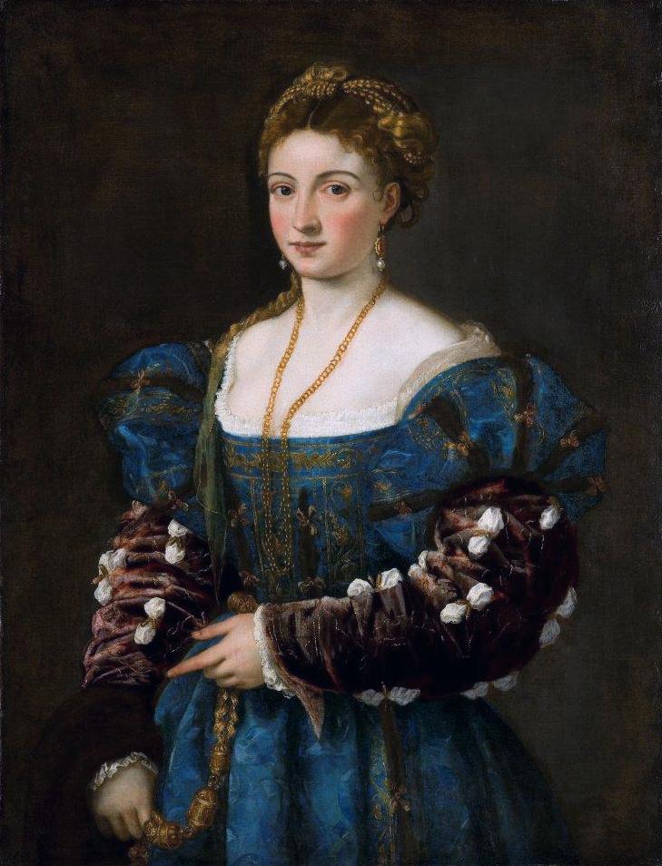 La bella, by Titian