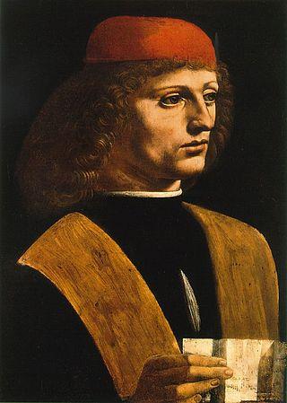 Leonardo da Vinci, ritratto di musico, 1485, Milano, Pinacoteca Ambrosiana