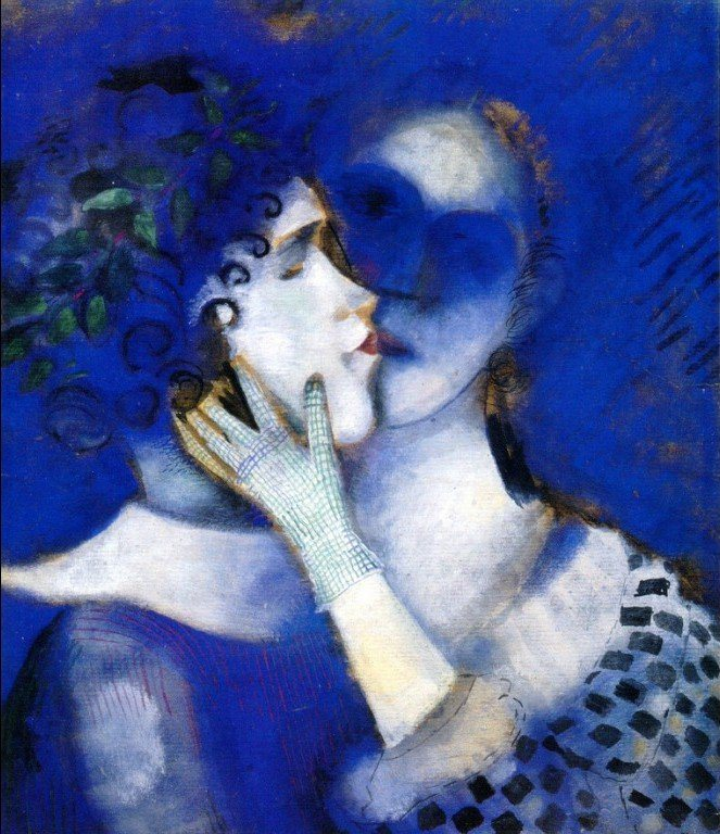 Marc Chagall, Gli amanti in blu, 1914