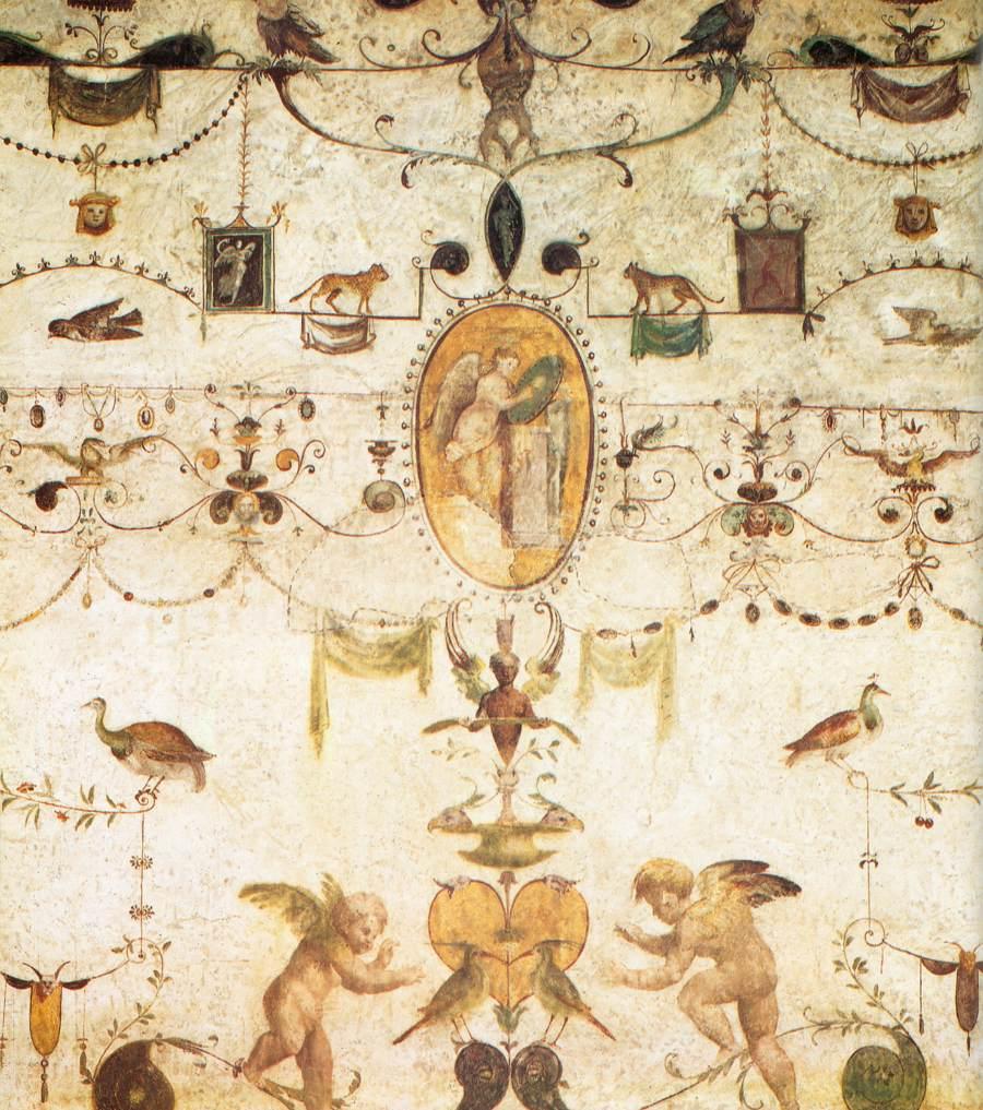 Grottesche della scuola di Raffaello, Loggetta del cardinal Bibbiena, Palazzi apostolici, Vaticano