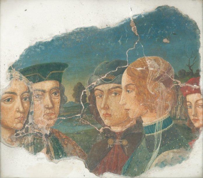 Umberto Giunti, finti frammenti di affreschi