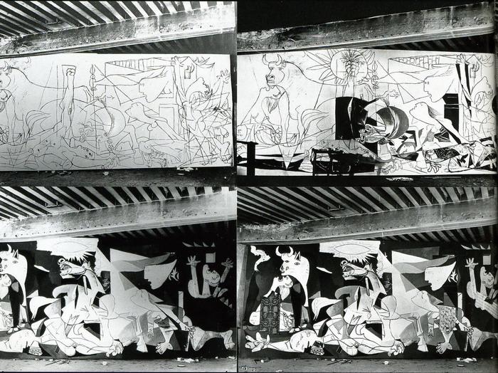 Fasi Guernica. Foto di Dora Maar.