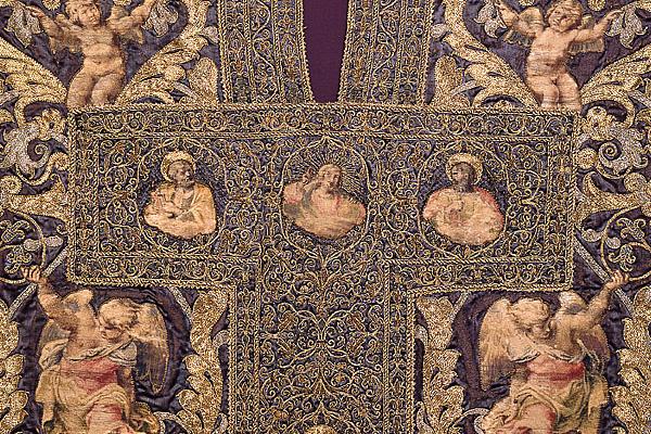 Pianeta del cardinale Alessandro Farnese (particolare), Manufatto tessile su disegno di Annibale Carracci, Museo dell'Opera del Duomo