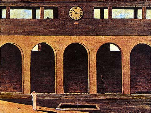 Giorgio De Chirico, L'enigma dell'ora, 1911