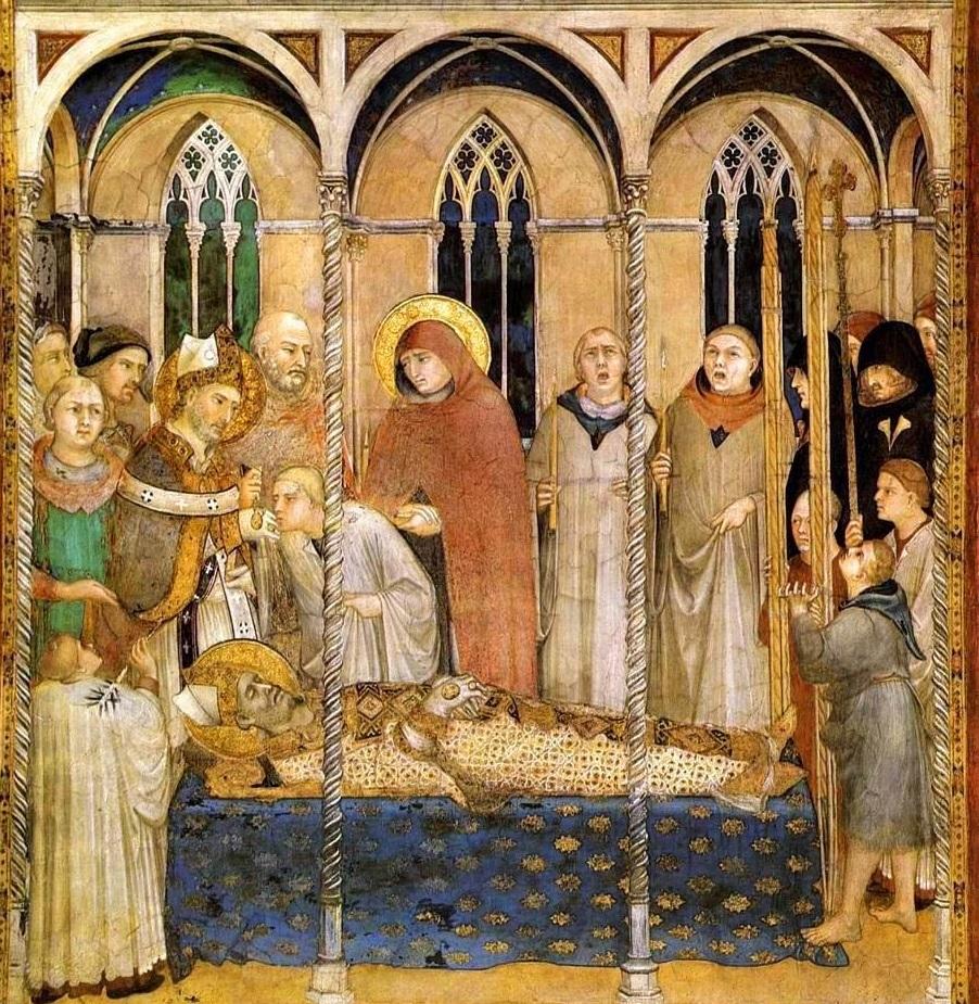 Simone Martini, I funerali di San Martino.