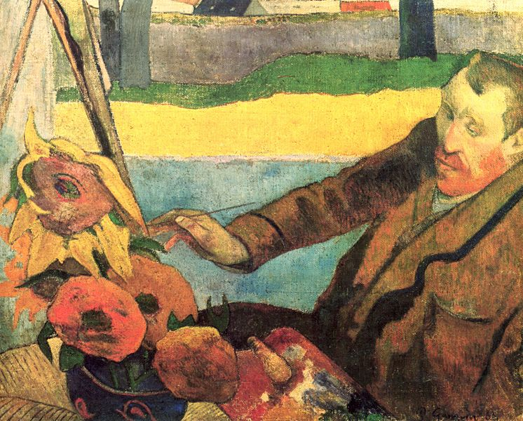 Van-Gogh-mentre-dipinge-i-girasoli