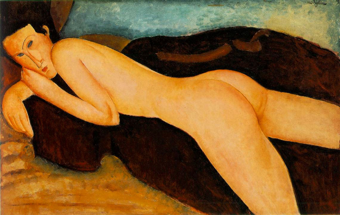 "Amedeo Modigliani ""Nudo disteso di schiena"""