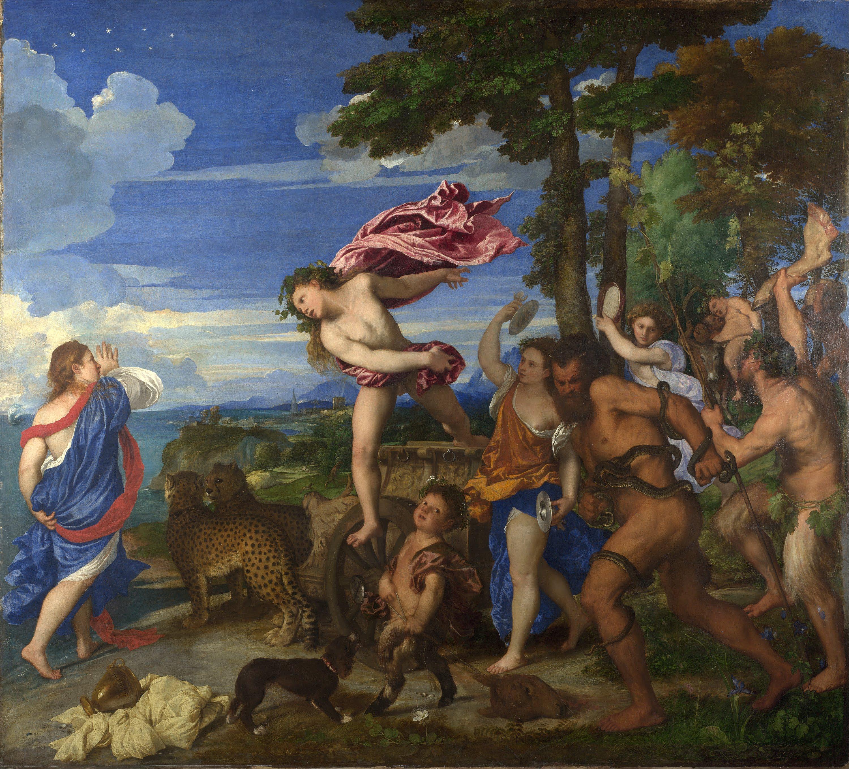 Bacco e Arianna 1520-1523 olio su tela