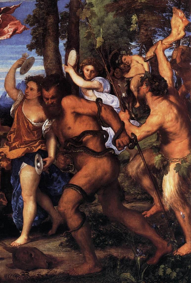 Particolare dell'opera - Bacco e Arianna - del Tiziano