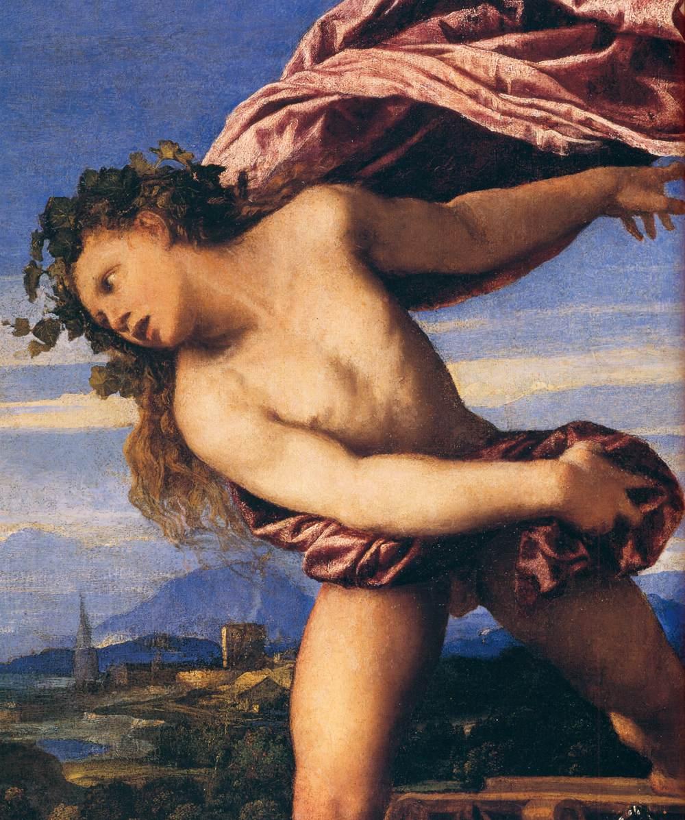 Particolare dell'opera Bacco e Arianna del Tiziano