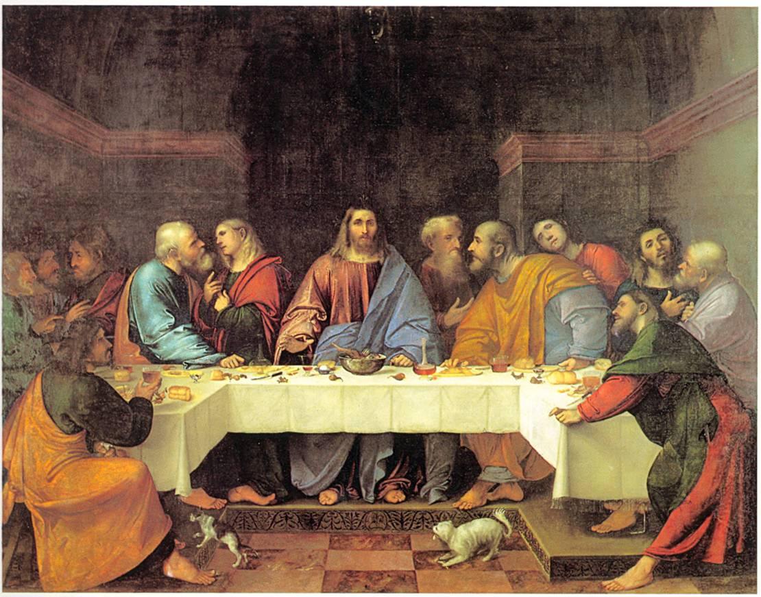 Romanino, Ultima cena, olio su tela, 1513. Padova, Museo Civico (dal refettorio di Santa Giustina)