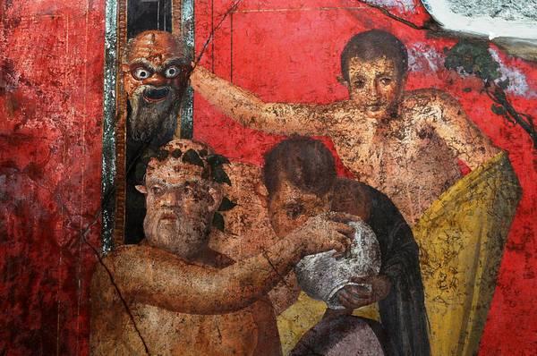 Un affresco della Villa dei Misteri a Pompei