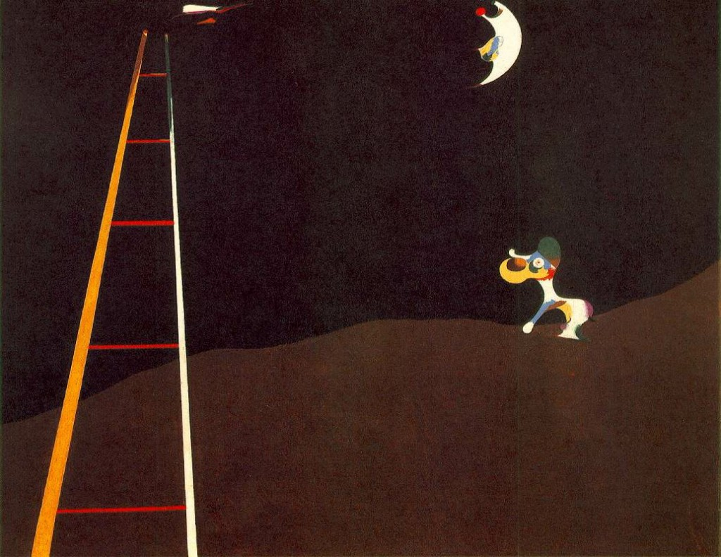 Cane che abbaia alla luna 1926 olio su tela, 73 x 92 cm Museum of Art, Philadelphia (Pennsylvania)