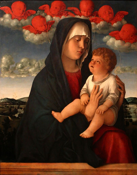 Giovanni Bellini, Madonna dei cherubini rossi, 1490 circa