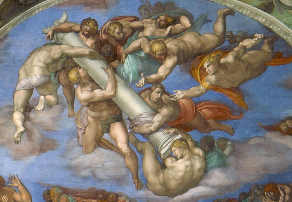 Michelangelo, Giudizio Universale, lunetta destra.