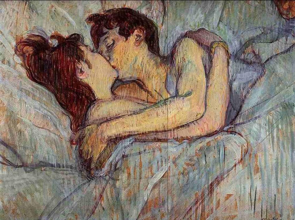Henri de Toulouse-Lautrec, A letto, il bacio, 1892