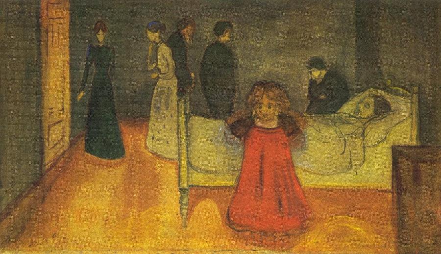 Edvard Munch, La madre morta e la bambina, 1897-1899