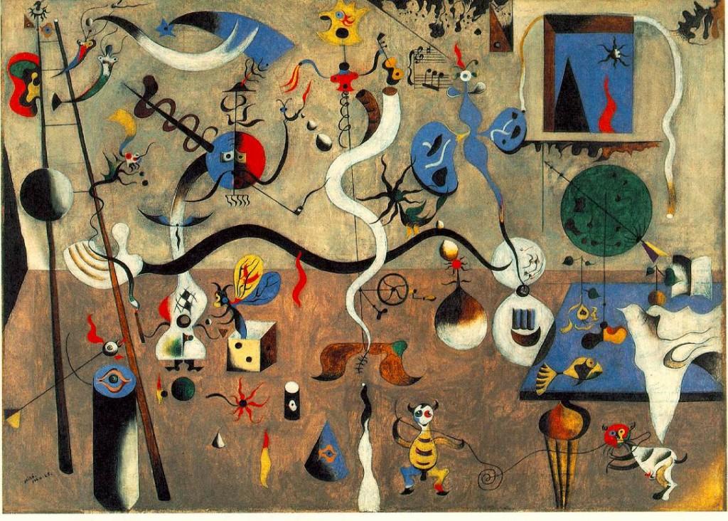 Joan Miró. Il carnevale di Arlecchino, 1924-25. Olio su tela, 66 x 93 cm . Albright-Knox Art Gallery, Buffalo, NY, USA