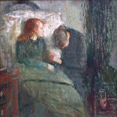 Edvard Munch, La bambina malata, 1885-1886