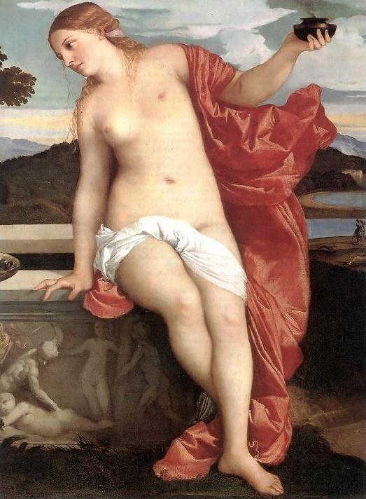 iziano Vecellio, Amor sacro e Amor profano, particolare, 1514