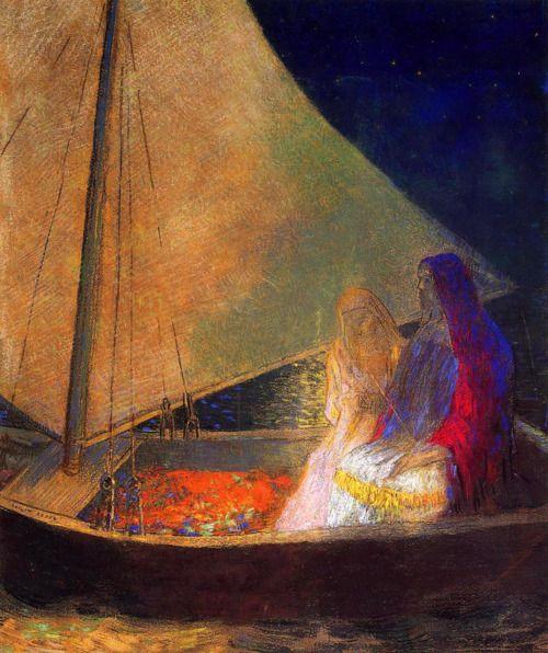 Alone in the lamplight - Odilon Redon