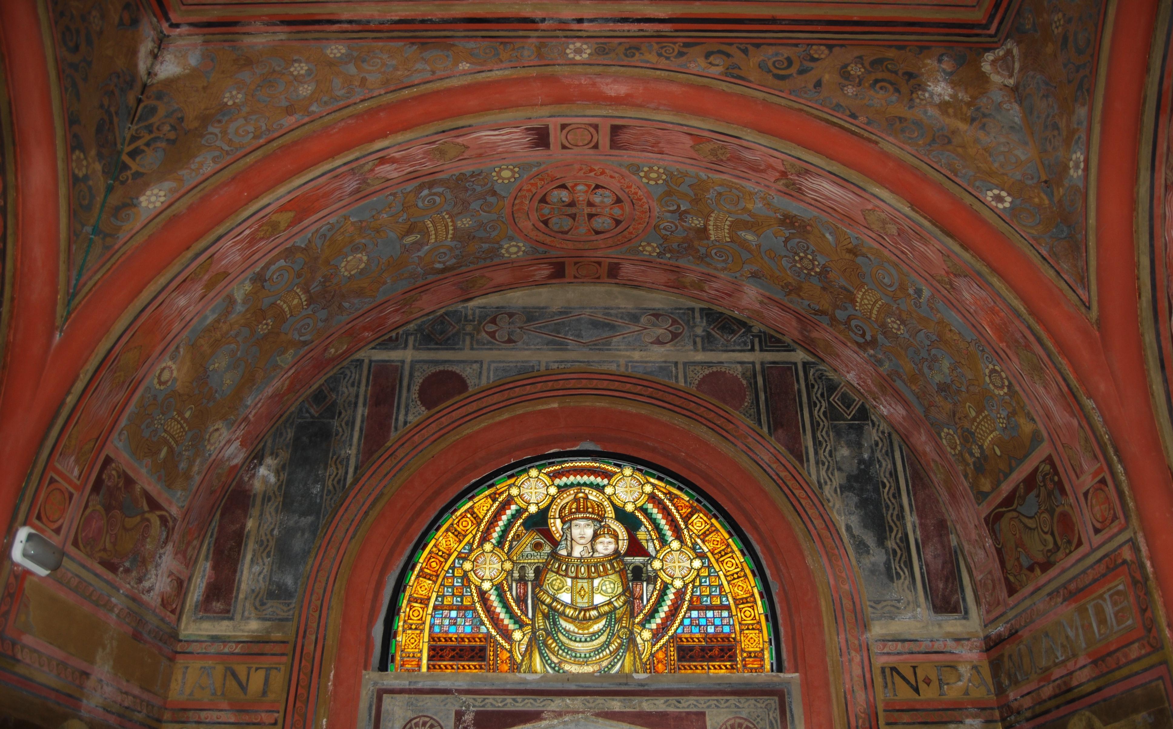 Affreschi della volta della Cappella prima del Restauro