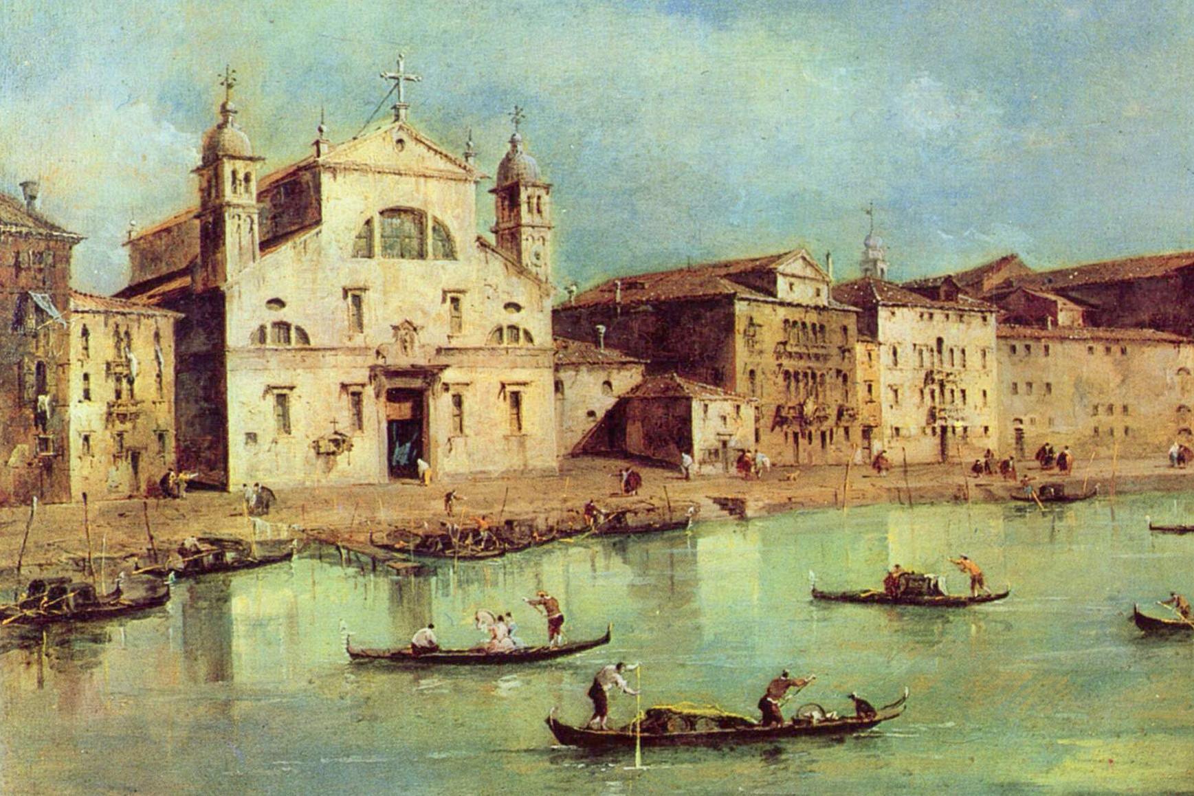 Francesco Guardi (1712–1793),  Il Canale Grande con le chiese di Santa Lucia