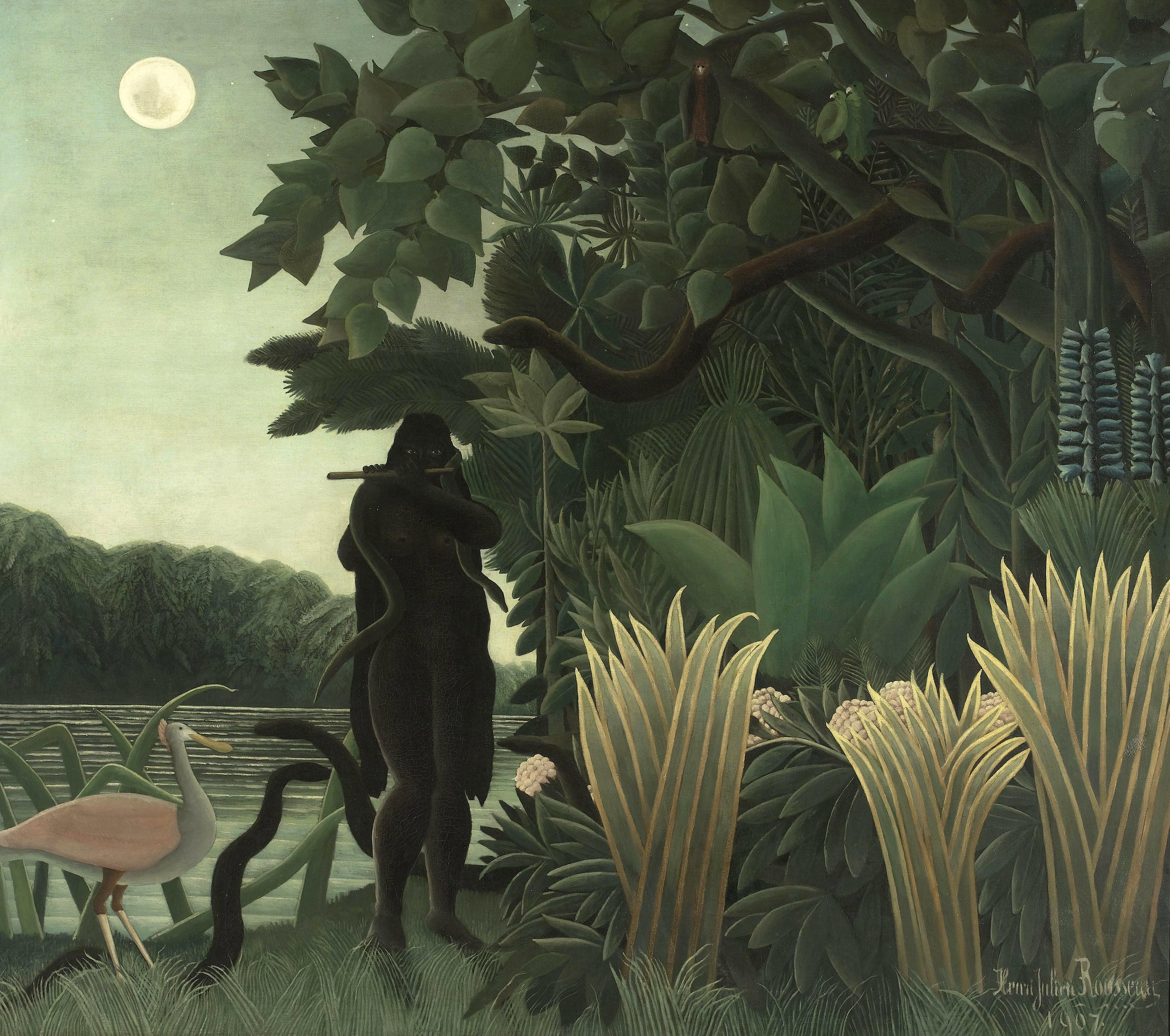 L'incantatrice di serpenti, (1907) Musée d'Orsay di Parigi