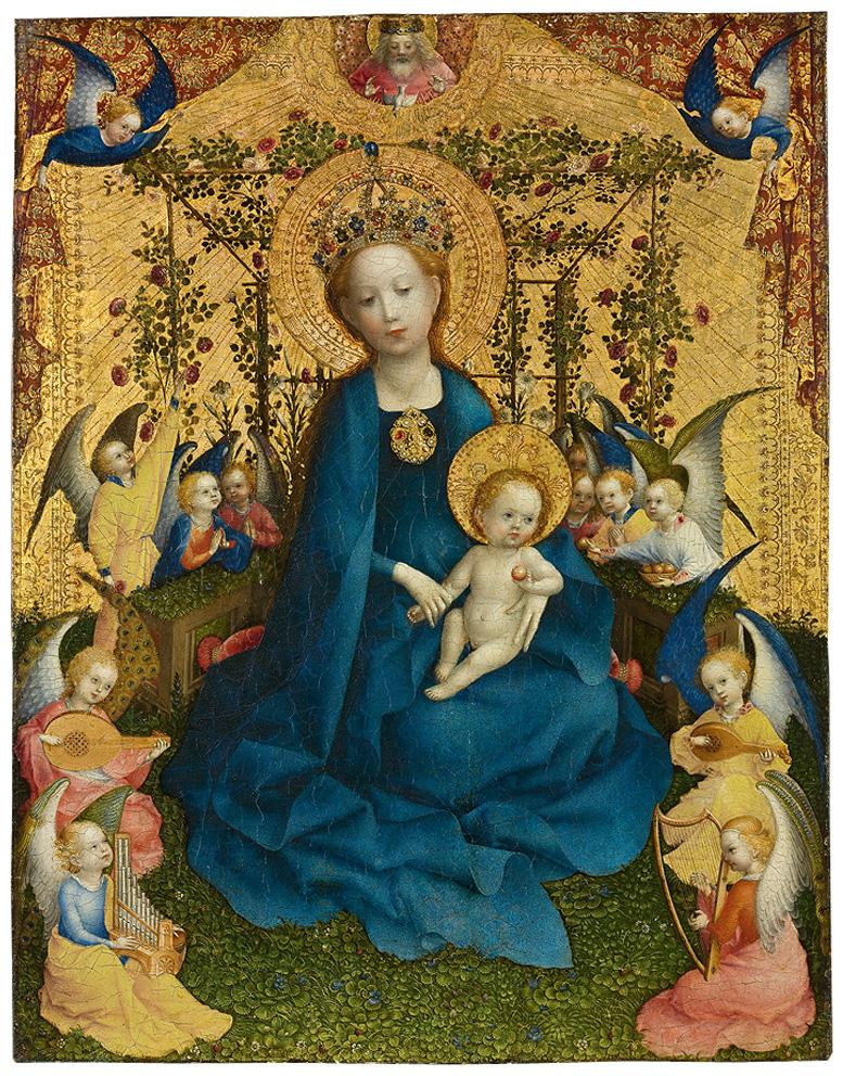 Stephan Lochner, Madonna del pergolato di rose, 1450 ca