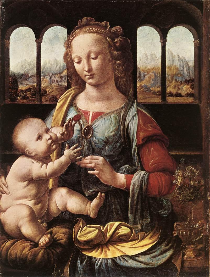 Leonardo da Vinci, Madonna del garofano, 1473 ca