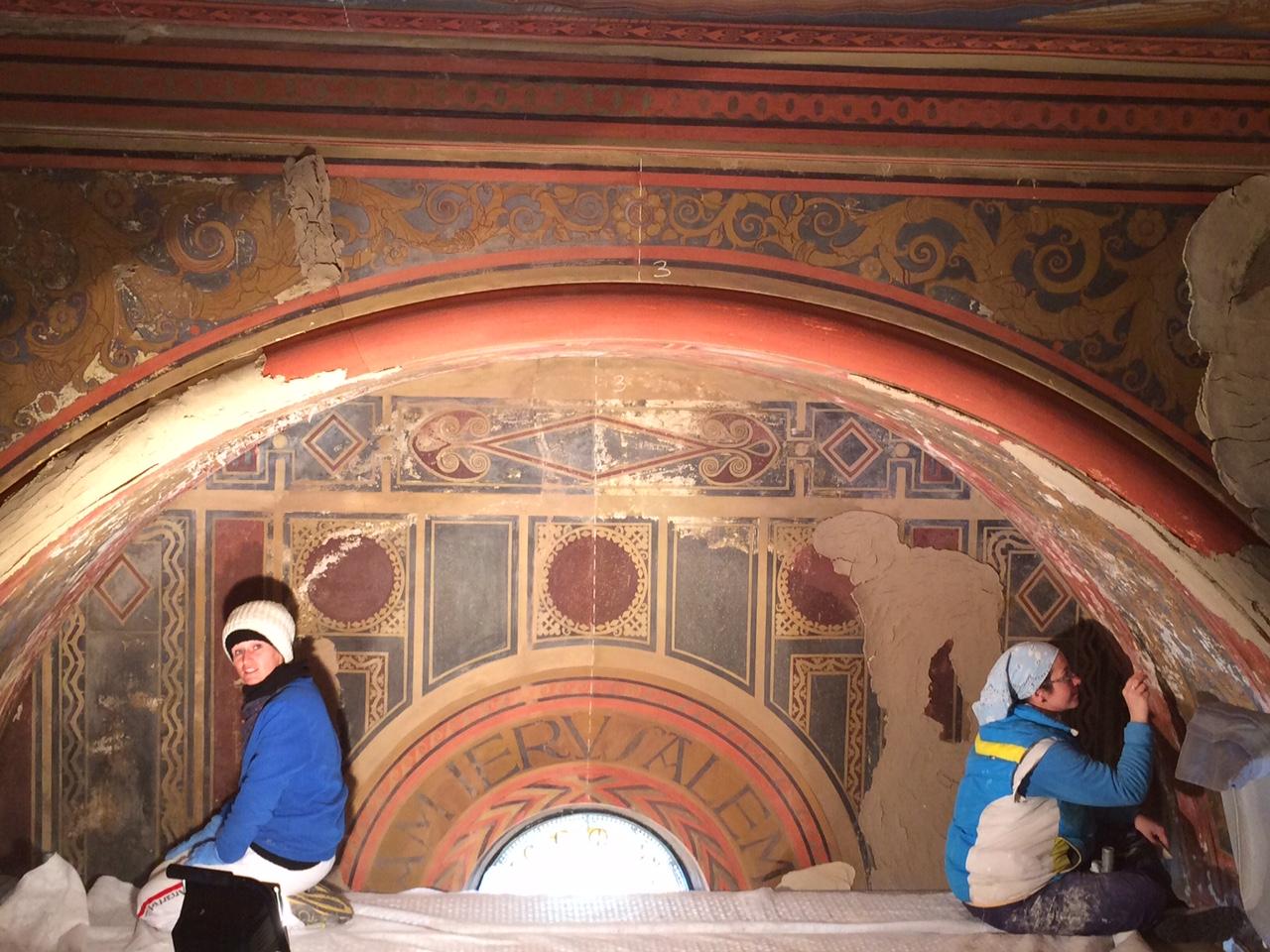 Recupero affreschi della volta
