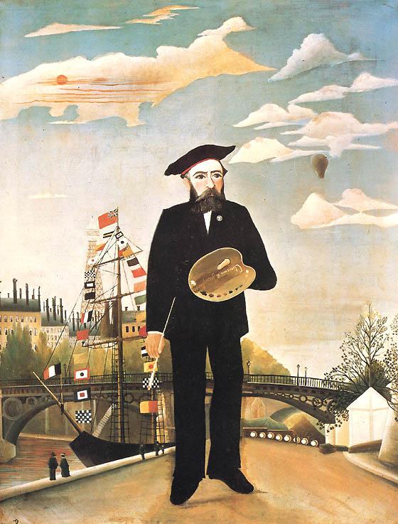 Io, ritratto-paesaggio (Autoritratto), (1889-1890) Národní galerie di Praga
