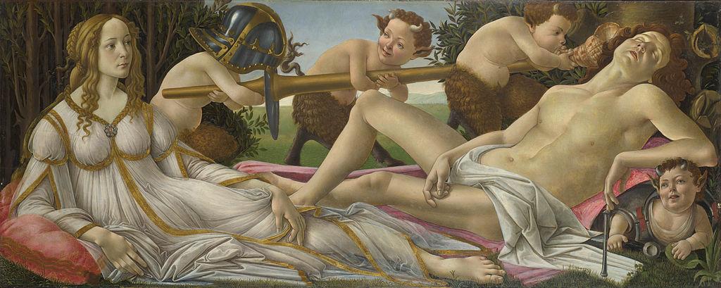 Sandro Botticelli, Venere e Marte, 1482-1483 circa