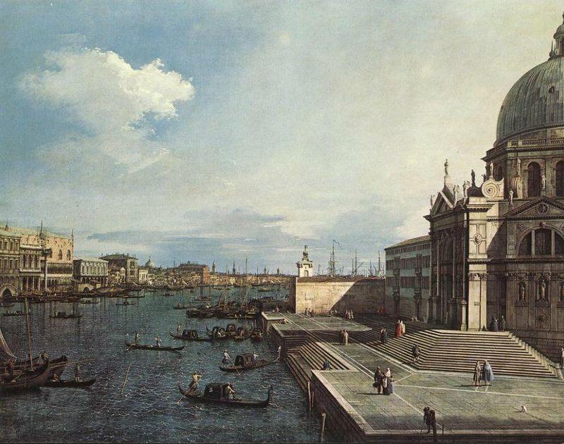 Canaletto, Canal Grande presso la Chiesa della Salute, 1742