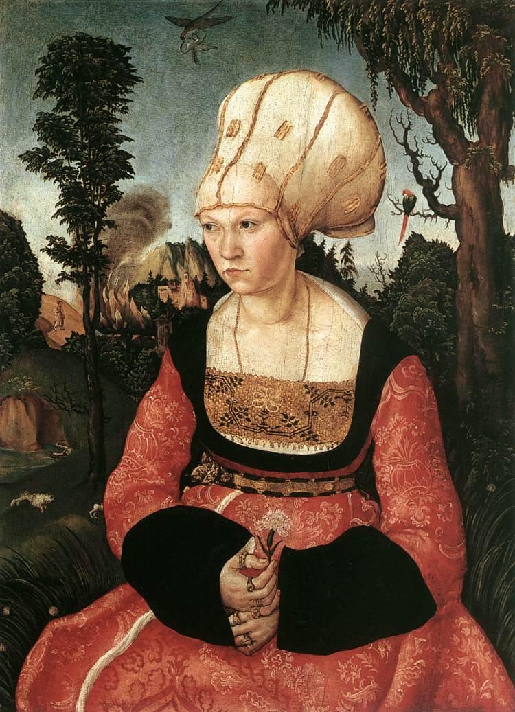 Luca Cranach il Vecchio, ritratto di Anna Cuspinian, 1502-03