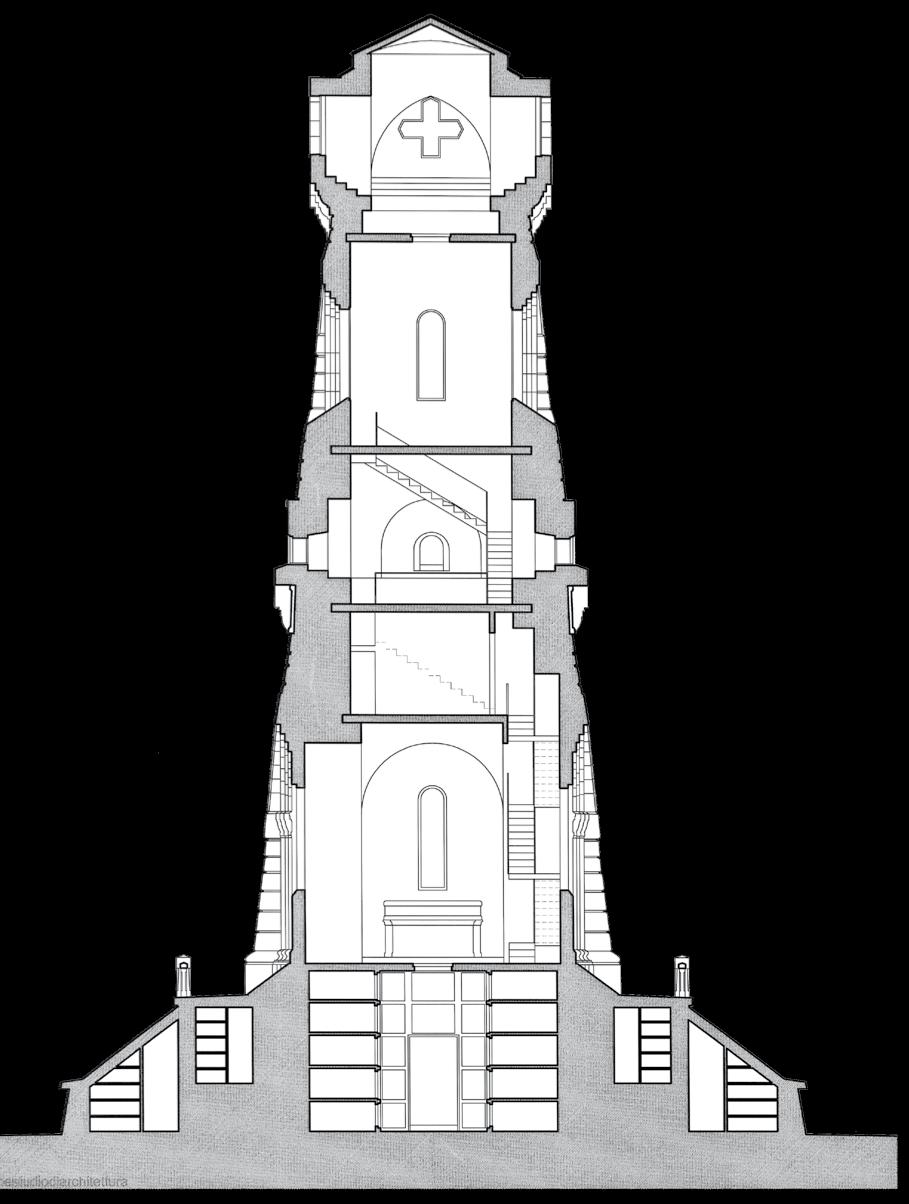 Restituzione grafica dello spaccato della struttura