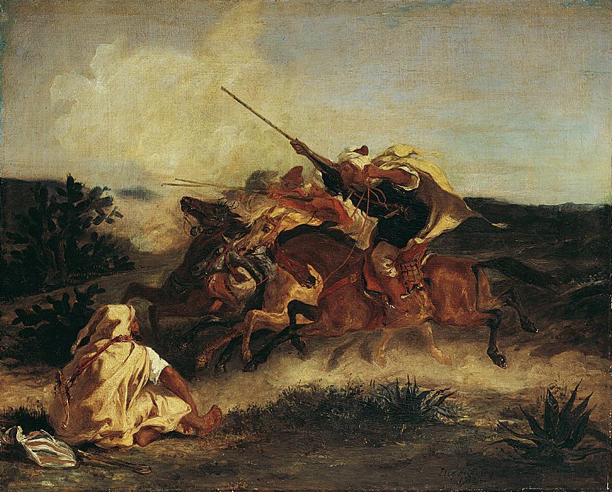 Eugène Delacroix, Fantasia arabe, 1833