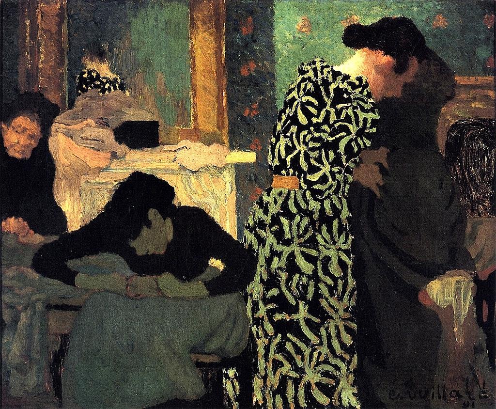 the-flowered-dress-c3a9douard-vuillard-1891
