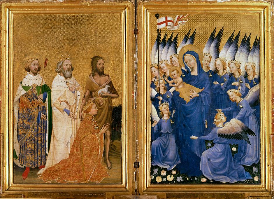 Autore ignoto, Dittico Wilton, 1395-1399 circa
