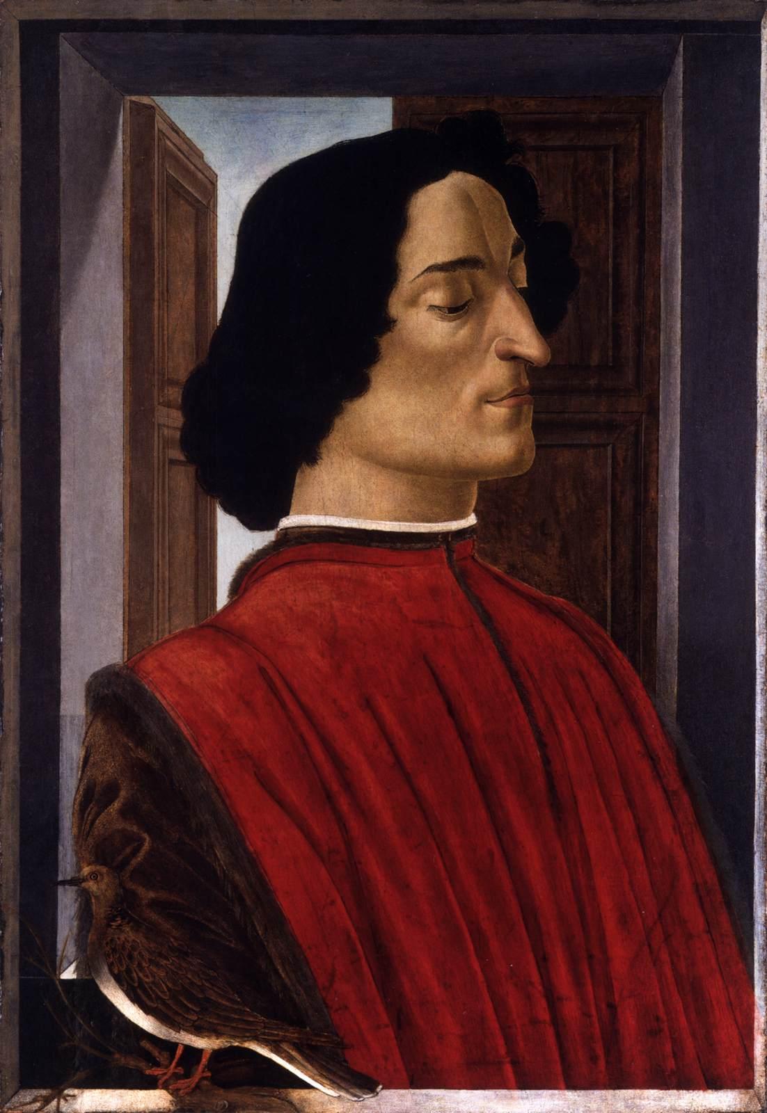 Sandro Botticelli, Ritratto di Giuliano de' Medici, 1478-1480 circa