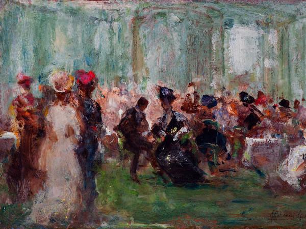 Pompeo Mariani, Sala delle Feste, Casinò di Sanremo, 1915. Olio su cartone, 20,5 x 29,8 cm