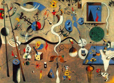 "Joan Miró: ""l'asinello arlecchino sulla scala canta blu"""