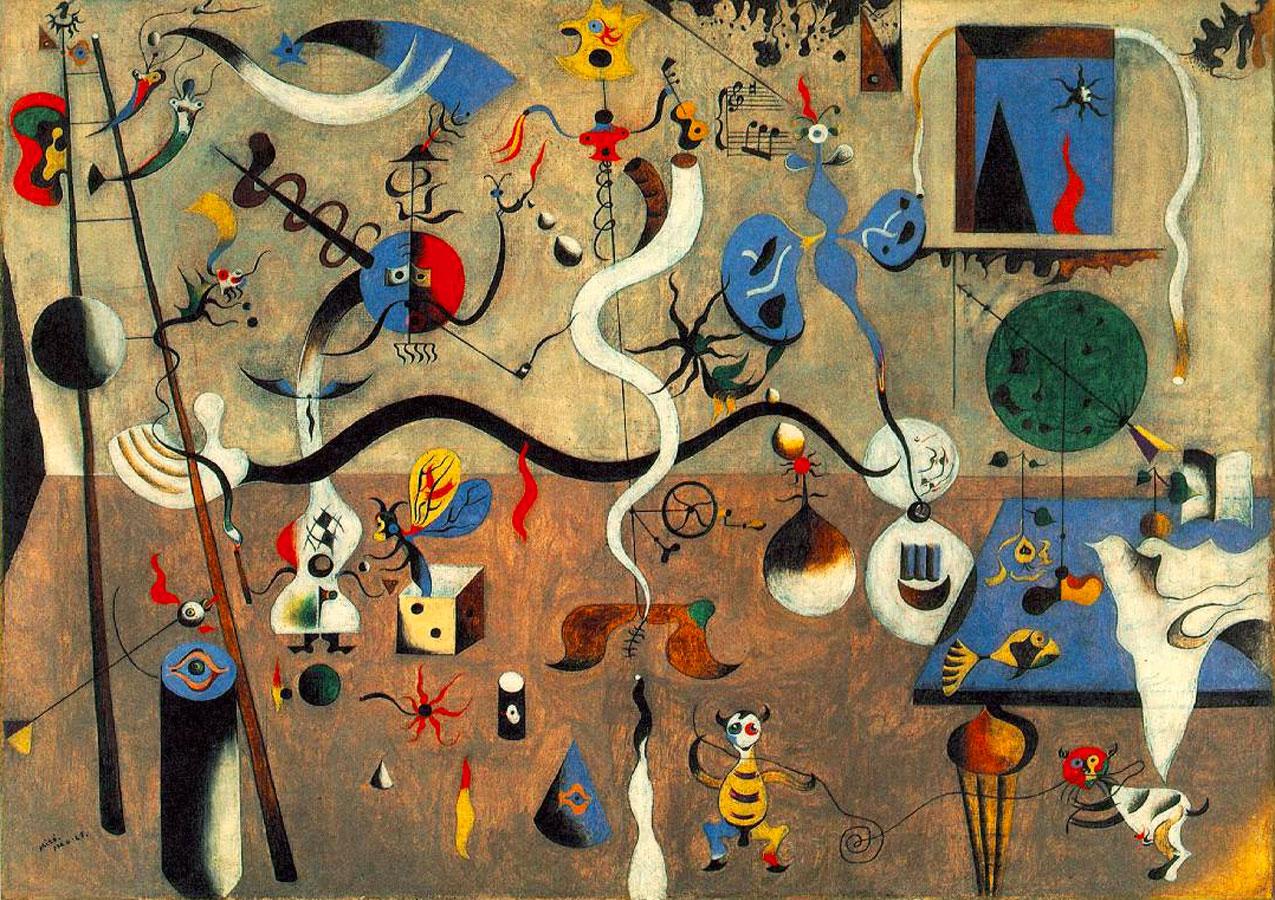 Joan Miró , Carnevale di Arlecchino, 1925