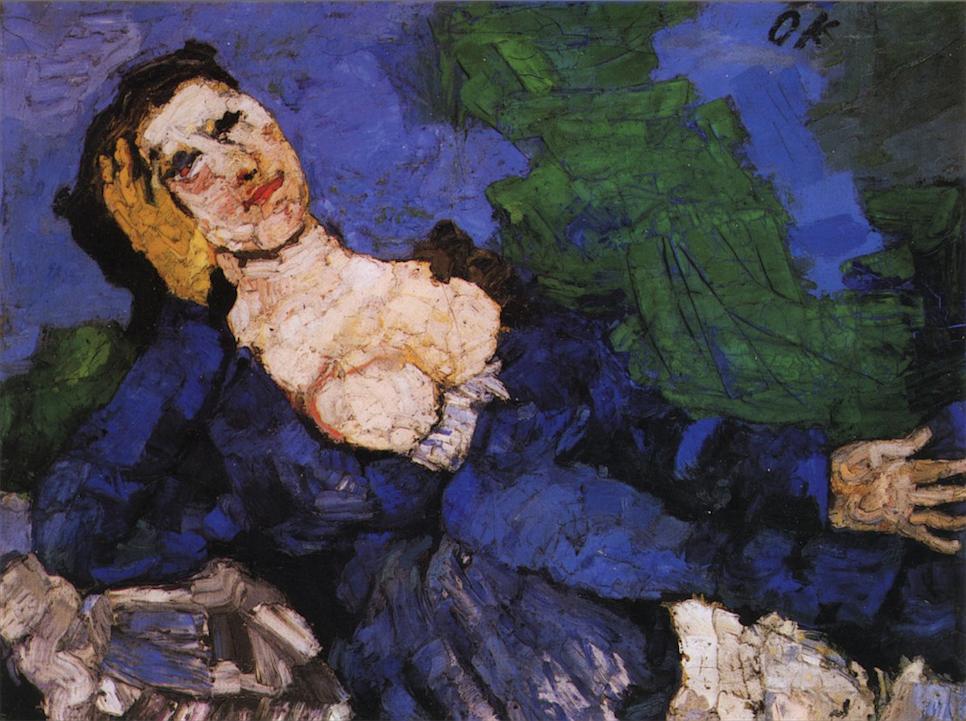 La bambola raffigurata in un dipinto