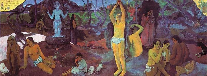 Da dove veniamo? Che siamo? Dove andiamo?, olio su tela 139 x 374,5 cm, 1897, Museum of Fine Arts, Boston.