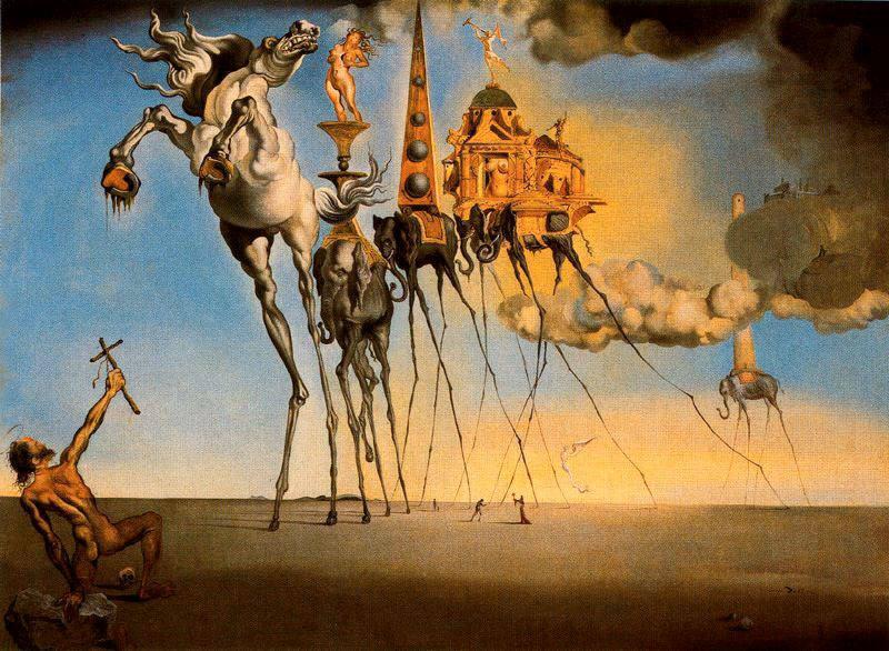 Salvador Dalì, La tentazione di sant'Antonio, 1946