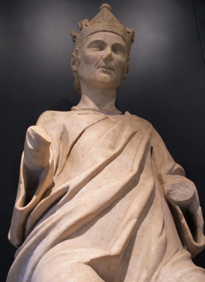 Tino di Camaino, Ritratto di Enrico VII, (Monumento funebre di Arrigo VII, 1313, Duomo di Pisa)