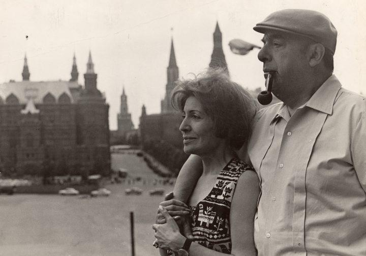 Pablo Neruda e la moglie Matilde Urrutia