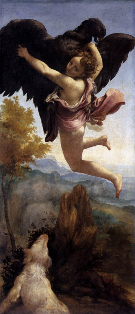 Antonio Correggio, Ratto di Ganimede, 1531-32