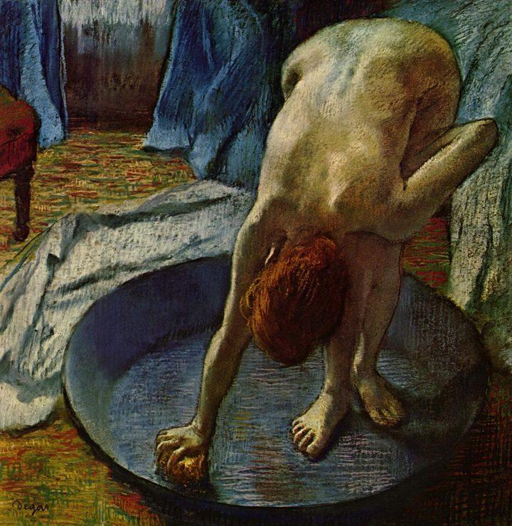 Edgar Degas, Donna al bagno, 1886